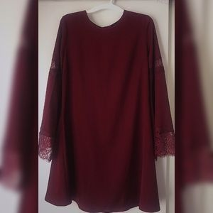 Massimo Maroon/Burgundy Dress